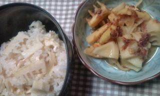 筍ごはん&筍の土佐煮